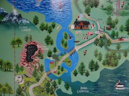 Harta Parcului National Tara de Foc