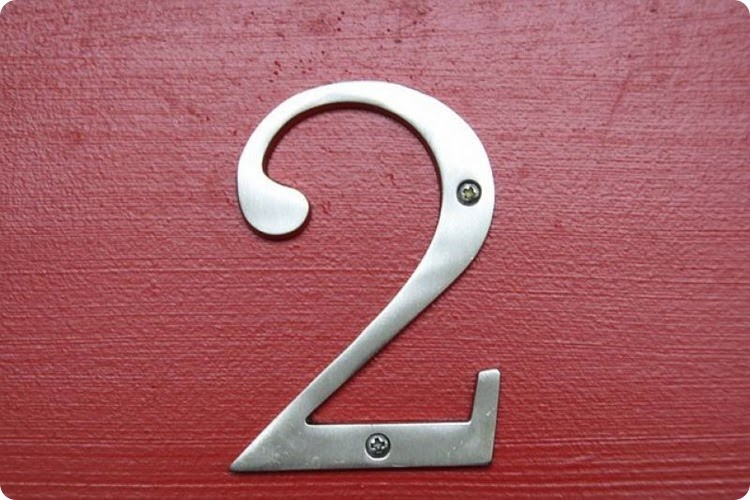 number-2-on-red-door
