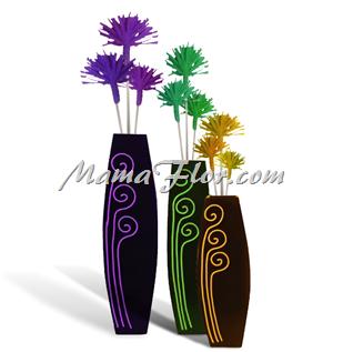 Decora tu Sala o Cocina con Flores de Colores de Papel