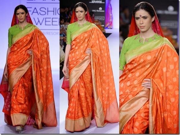 Gaurang_Shah_Orange_Saree