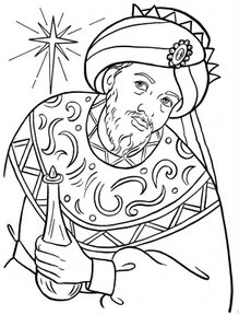 The three wise men for Wisemen coloring pages