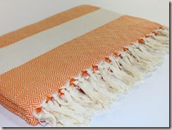 Large Beach Blanket, Orange