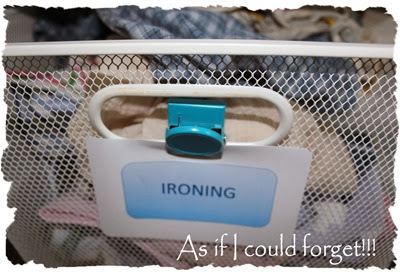 Laundry ironing basket