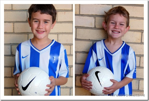 Our Aussie Homeschool ~ First Day of Soccer!