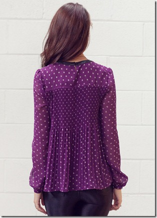 VM pleated purple top3