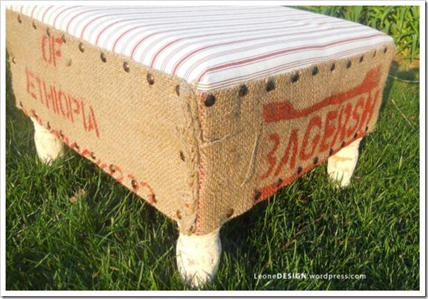 grain sack ottoman