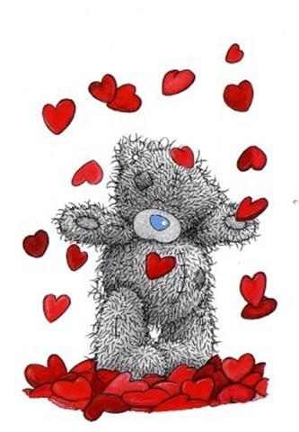bamse med hjerter