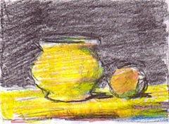 Natura statica in galben si negru desen de Cojocaru