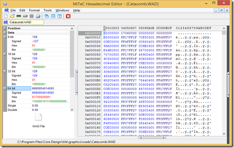 Mitec Hex Editor ScreenShot