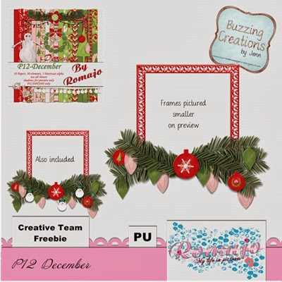 Romajo - P12December - Frame Freebie Preview