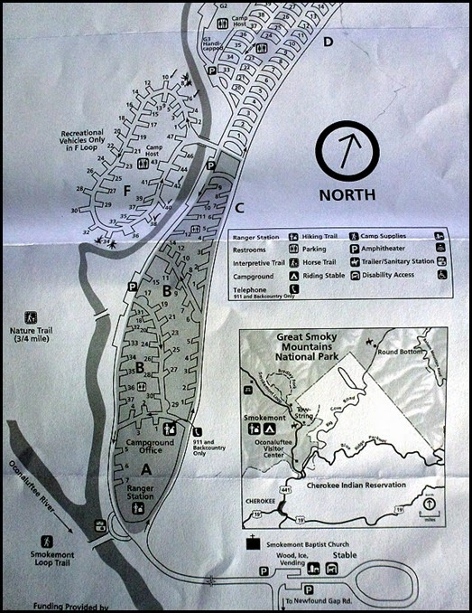 05 - Smokemont Campground Map