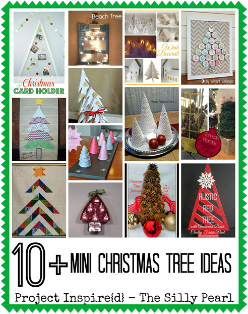 More than 10 Mini Christmas Tree Ideas - The Silly Pearl