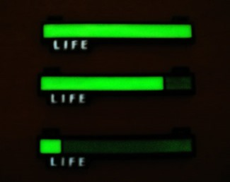 Glowing Life Bar Necklace from Critical Hit Shop 2