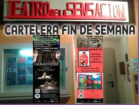 CARTELERA FIN DE SEMANA MOMO Y BICHARRACOS