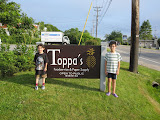 Eidan and Kai at the Toppa Company