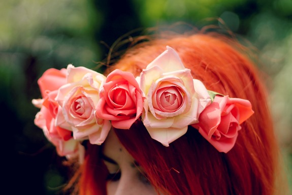 EASY DIY FLORAL ROSE CROWN