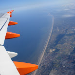 flying with easy jet from amsterdam to london in London, London City of, United Kingdom