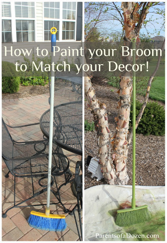 How to paint your broom to match your decor.