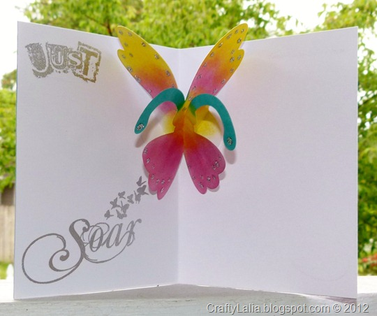 SOTM butterfly card inside CTMH