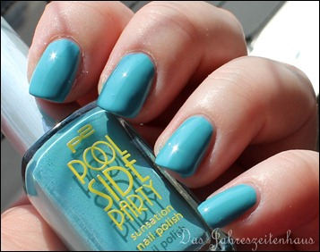 0 P2 Limited Edition LE Pool Side Party Nagellack 020 Turquoise Sky 3