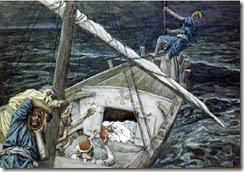 Jesus dormindo na popa do barco (2)