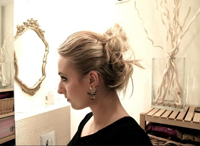 messy chic prom updo for 2012