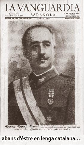 portada franquista de La Vanguardia