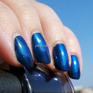 CND Effects Ice Blue Shimmer over CND Inkwell 4
