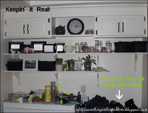 Kitchen Shelves - 10 things