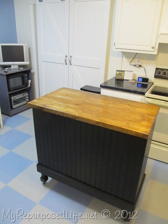 Repurposed Desk into a Kitchen Island