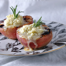 White Peaches with Honey-Vanilla Mascarpone