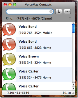 VoiceMac - Google Voice Client for Mac