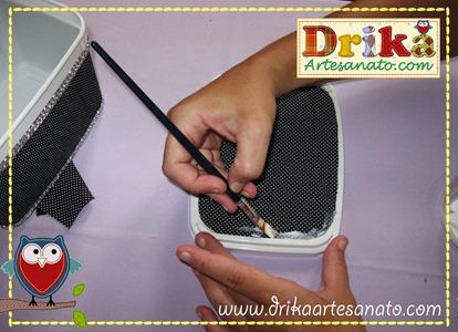 14 Passo a passo de pote de sorvete decorado Drika Artesanato