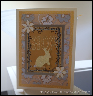 Gold and White Easter Card