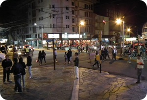 Peatonal de San Bernardo en la noche