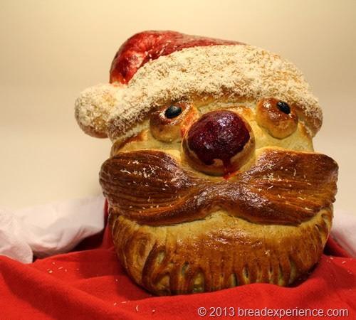 whimsical Santa Bread (aka Whisker's Santa)