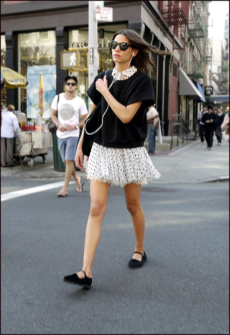 w white with black polka dots mini dress black short sleave sweater 2 ol