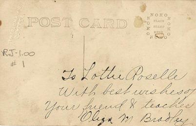 Oliza Bradley Moorhead Ant Postcard back