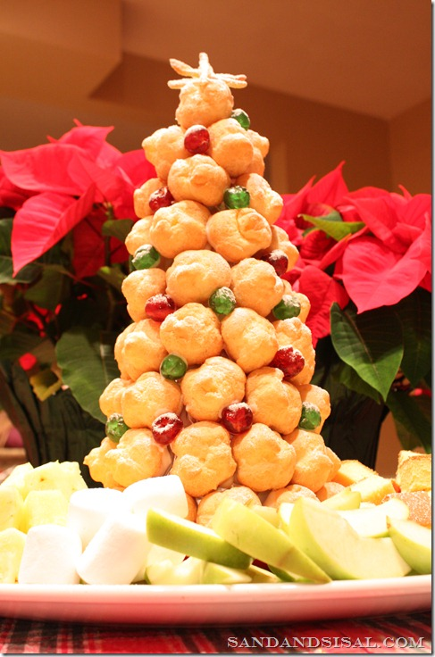 creampuff tree chocolate fondue
