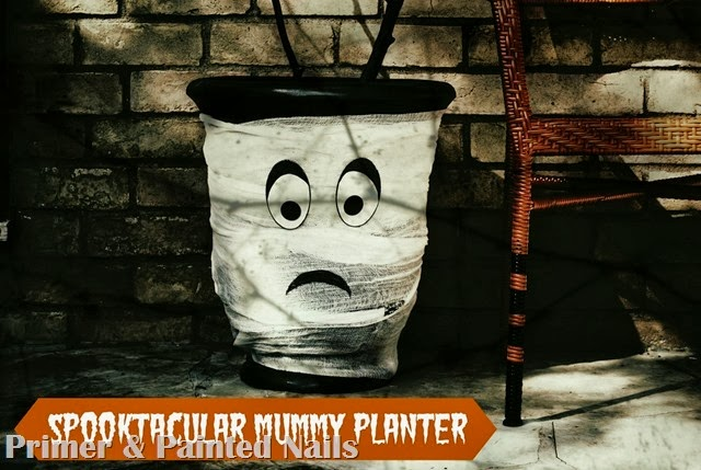 Spooktacular Planter (PM Edit) - Primer & Painted Nails