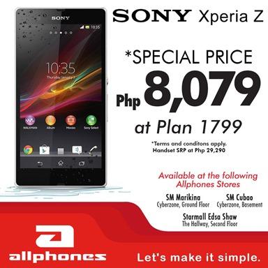 Sony Xperia Z Globe Postpaid Allphones