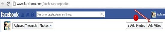 การอัพโหลดวีดีโอไปยัง facebook