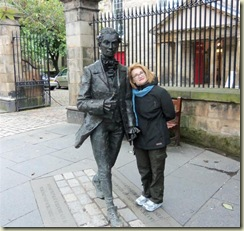 Ellen and Friend on Royal Mile (Small)