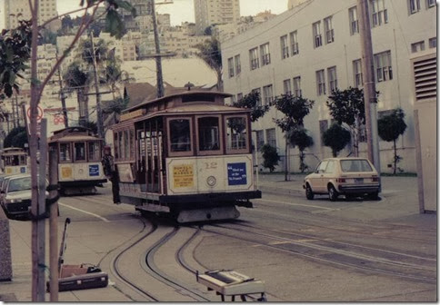 Cable Cars in San Francisco, California on March 16, 1992