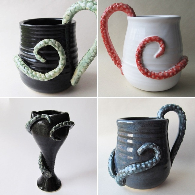 Tentacle Monster Potter by Wild Card Pottery