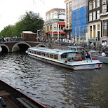 boat tour through the canals of amsterdam in Amsterdam, Noord Holland, Netherlands