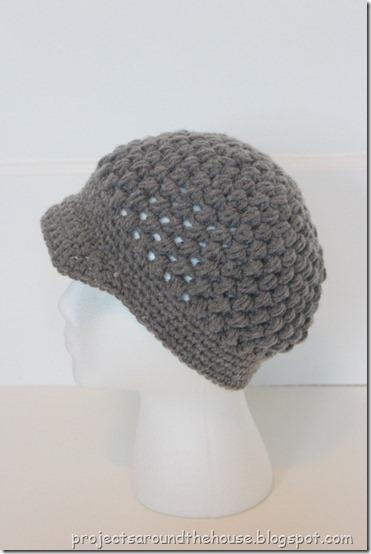 Crochet Hat Pattern With Puff Stitch : Projects Around the House: Crochet Puff Stitch Newsboy Pattern