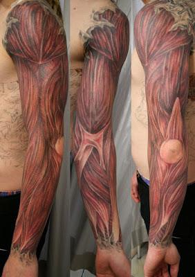 tatuaje musculatura braquial