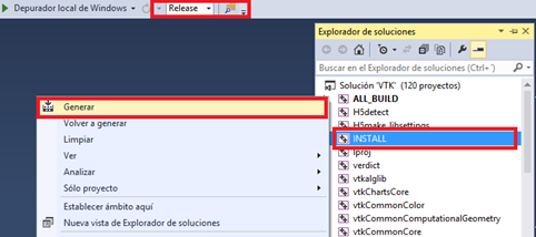 compilar vtk visual studio
