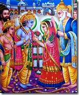 Celebrating Sita and Rama's marriage